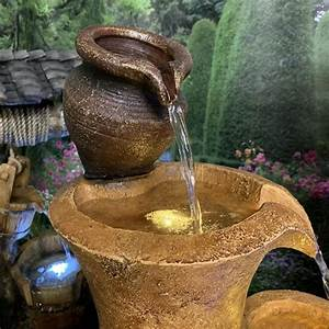 Large, Open, Handle, Urn, Water, Feature