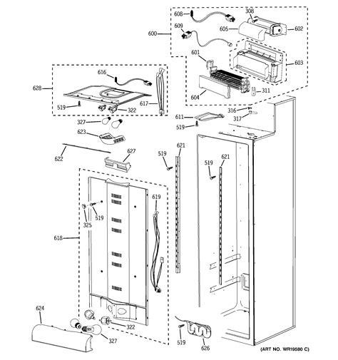 ge refrigerator  series parts model psblsrabv sears partsdirect