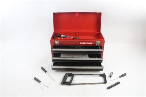 craftsman 3 drawer tool box craftsman 3 drawer tool box with handtools 20 pieces