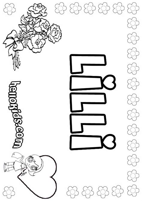 lilli coloring pages hellokidscom