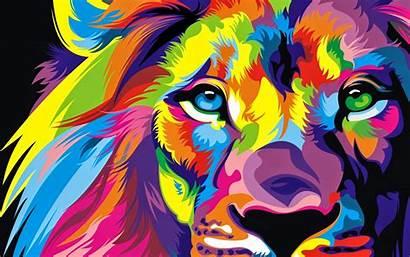 Colorful Lion Artwork