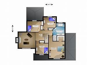 plan de maison avec mezzanine chaioscom With plan maison mezzanine gratuit