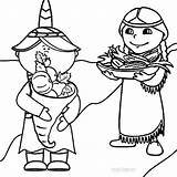 Coloring Pages Pilgrim Harvest Cool2bkids Pilgrims Printable sketch template