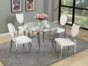 Glass Dining Room Sets Refined Glass Top Dining Room Furniture Dinette Sacramento California Chlet