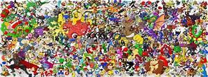Imagen 304 Personajes De Nintendo Juntos En Un Poster
