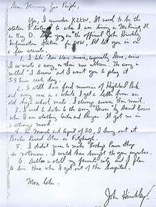 John Hinkley Radio Letter DEVO