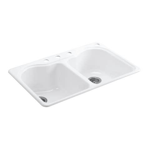 Kohler 33 X 22 Kitchen Sink by Shop Kohler Hartland 22 In X 33 In White Basin Cast