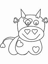 Coloring Pages Cow Games Valentines Print Printable Cliparts Baby Bowling Valentine Town Getcoloringpages Advertisement Comments sketch template