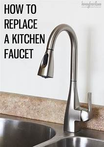 How to replace a kitchen faucet honeybear lane for How to replace kitchen sink faucet