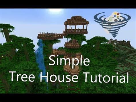 simple tree house tutorial minecraft youtube