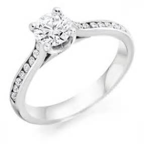 platinum engagement ring with shoulders 20