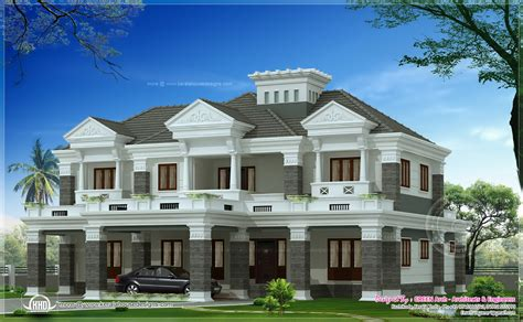 different house plans 2 different luxury house elevations with bifurcated stair home kerala plans