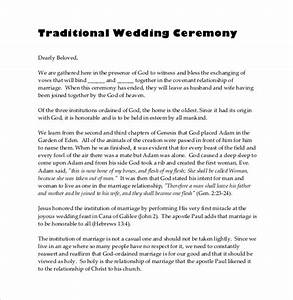 19 wedding ceremony templates free sample example With wedding ceremony script samples
