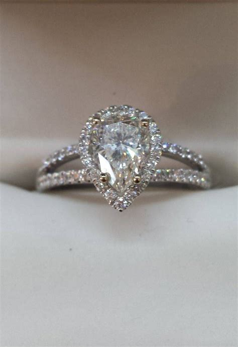 15 photo of pear shaped engagement rings with wedding bands