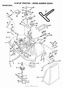 Ayp  Electrolux 1e2a9a  1993  Parts Diagram For Mower Deck