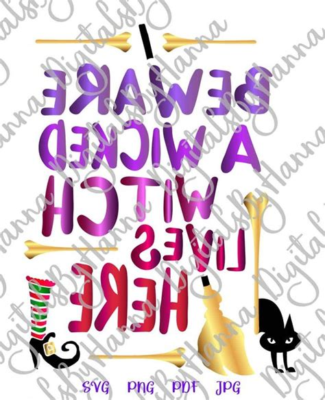 halloween svg file  cricut  beware wicked witch