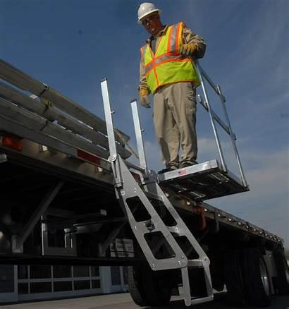 Platform Platforms Protection Fall Trailer Portable Handrail