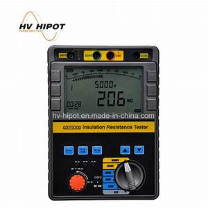 China Gd2000d Insulation Resistance Tester