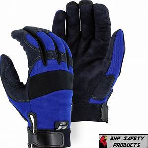 Mechanics Work Gloves Majestic Glove Armorskin Synthetic