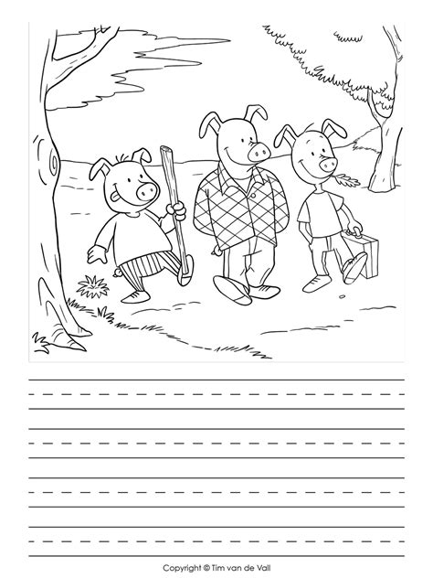 pigs writing template tims printables