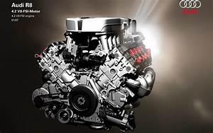 Audi R8 4 2 V8 Fsi Engine Hd Desktop Wallpaper