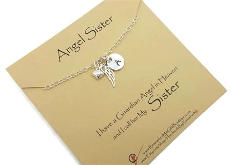 personalized memorial necklace  loss  sister