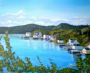 Pilleys Island Newfoundland Painting by Virginia Houston