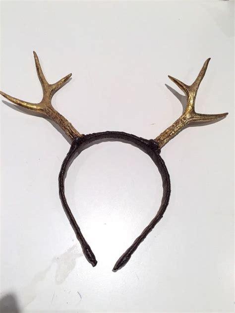 gold antlers antler headband deer headpiece gold