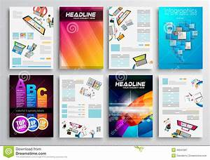 Set Of Flyer Design, Web Templates. Brochure Designs Stock ...