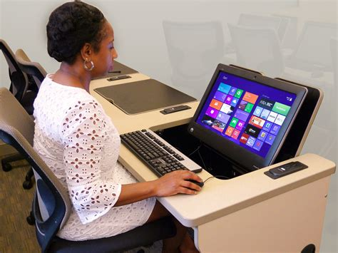 all in one computer desk ilid touch all inone computer desks smartdesks gives multi
