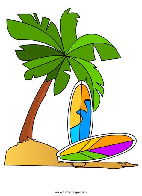 tavola disegno disegno estate palma e tavole da surf tuttodisegni