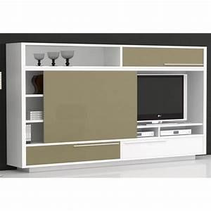 Porte Tv Mural : meuble tv mural white cupboard couleur blanc ma achat vente meuble tv meuble tv mural white ~ Teatrodelosmanantiales.com Idées de Décoration