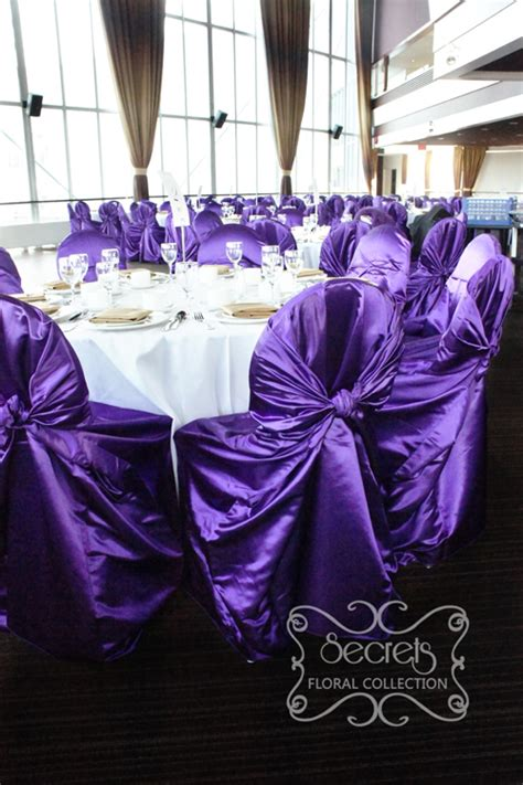 purple chair covers wedding images