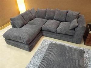 Cord Sofa : new dylan jumbo cord dark grey fabric corner group sofa ~ Pilothousefishingboats.com Haus und Dekorationen