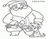 Coloring Bumps Gives Bone Printable Santa sketch template