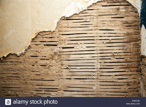 Sell Home Interior - house lath and plaster with blown plaster removed to stock photo 84643790 alamy