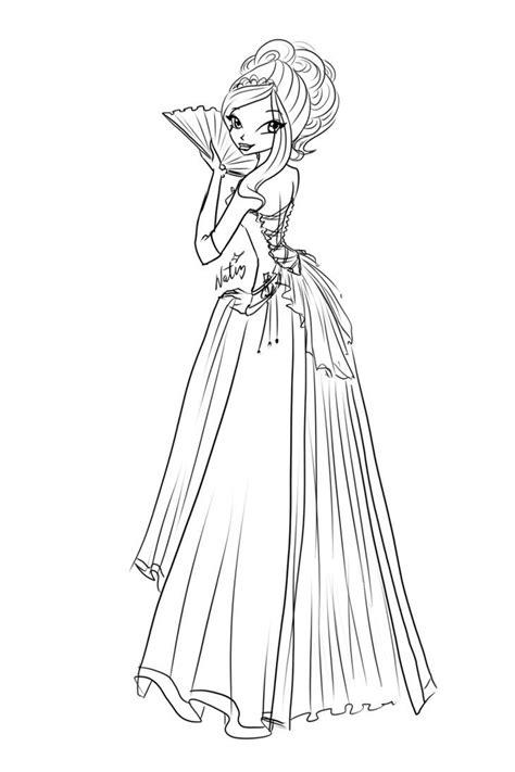 sketch rose ball dress  laminanati  deviantart