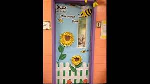 Classroom door decorations for spring - YouTube