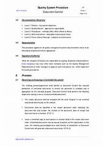 document control procedure example by iso 9001 checklist With documents management procedure