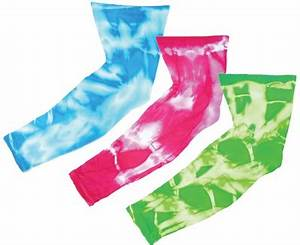 Colorful Neon Tie Dyed Athletic Sport pression Arm
