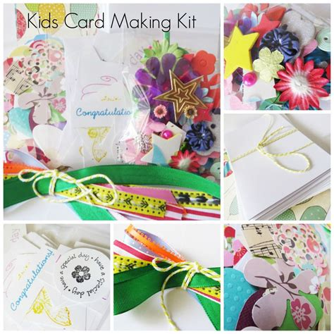 Kids Card Making Kit, Childrens Craft Activity