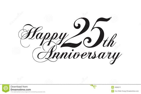 Happy 25th Anniversary Stock Illustration Illustration Of Gifts 4990511