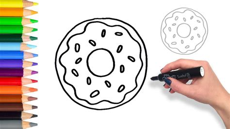 learn  draw  donut teach drawing  kids