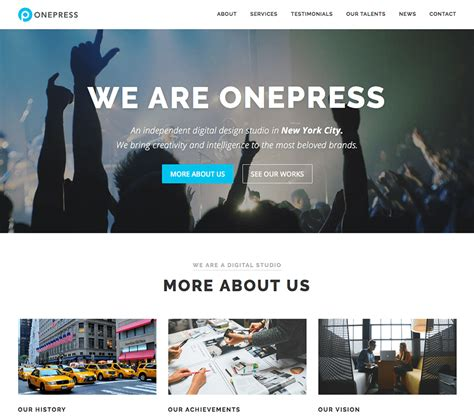 Wp One Page Themes Free One Page Theme 2018 Onepress
