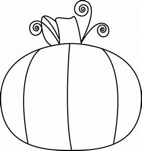 Black and White Pumpkin Clip Art - Black and White Pumpkin ...
