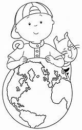 Caillou Coloring Printable Around Sheets Wecoloringpage sketch template