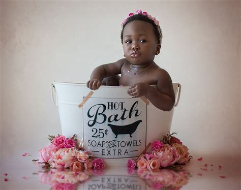 Baby Milk And Flower Bath Natalie Houlding Photography