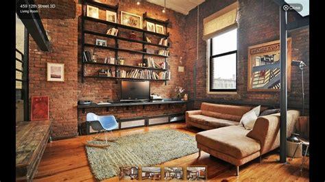 Industrial Style Living Room Interior Design Ideas