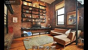 Industrial Style Living Room Interior Design Ideas - YouTube