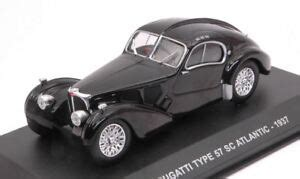 The atlantic would also probably be at the top our list as the most the type 57 was built between 1934 and 1940, and it was the car which got bugatti both of their victories at the 24 hours of le mans. Bugatti Type 57 Sc Atlantic 1937 Black 1:43 Model Solido | eBay